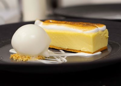 Suesey Street - Lemon Slice with Meringue Top and Homemade Sorbet