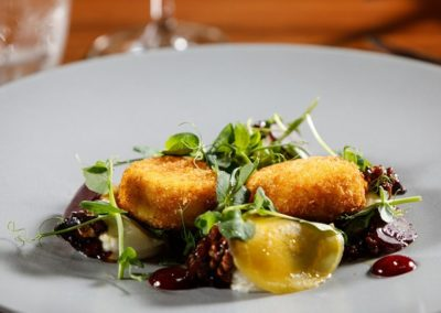 Suesey Street- Breaded goats cheese salad-candied walnuts-beetroot-watercress salad