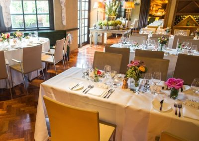 Suesey Street- Wedding Setup in Private Dining Room