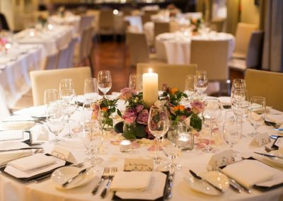 Suesey Street- Wedding Table Setup with Flower Arrangements and Candles