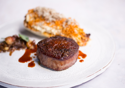 Suesey-Street---Fillet-steak-dry-aged-from-Mount-Leinster-with-charred-York-cabbage,-celeriac-remoulade,-celeriac-crumb,-bone-marrow-jam-and-shaved-black-truffle-