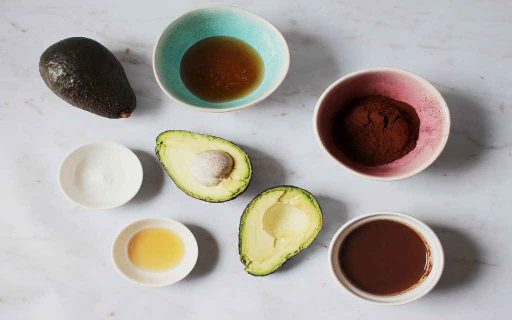 healthy avocado mousse ingredients