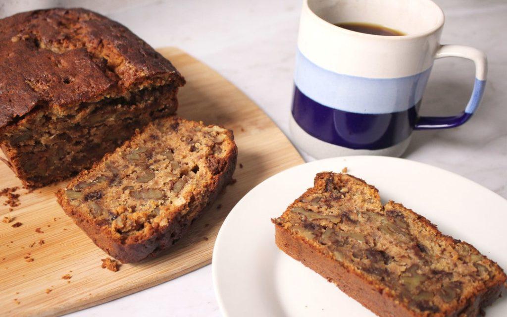 Freshly baked banana bread, tea, coffee, Suesey Street