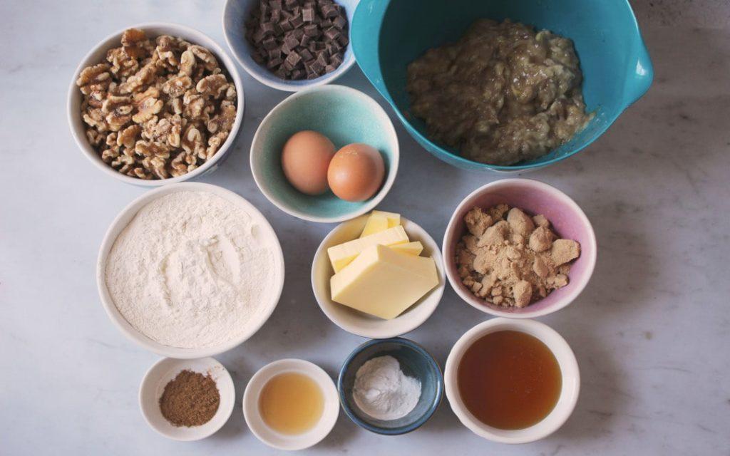 Banana bread ingredients, Suesey Street