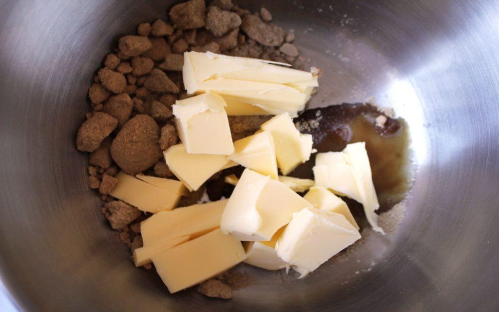 brown sugar, butter, vanilla, banana bread
