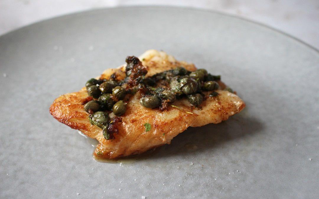 Head Chef Cathal's Cod Meunière