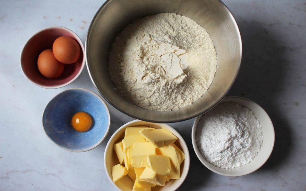 Lemon tart pastry ingredients