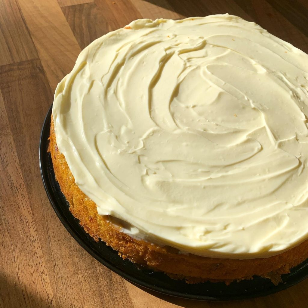 zesty carrot cake with cream cheese icing
